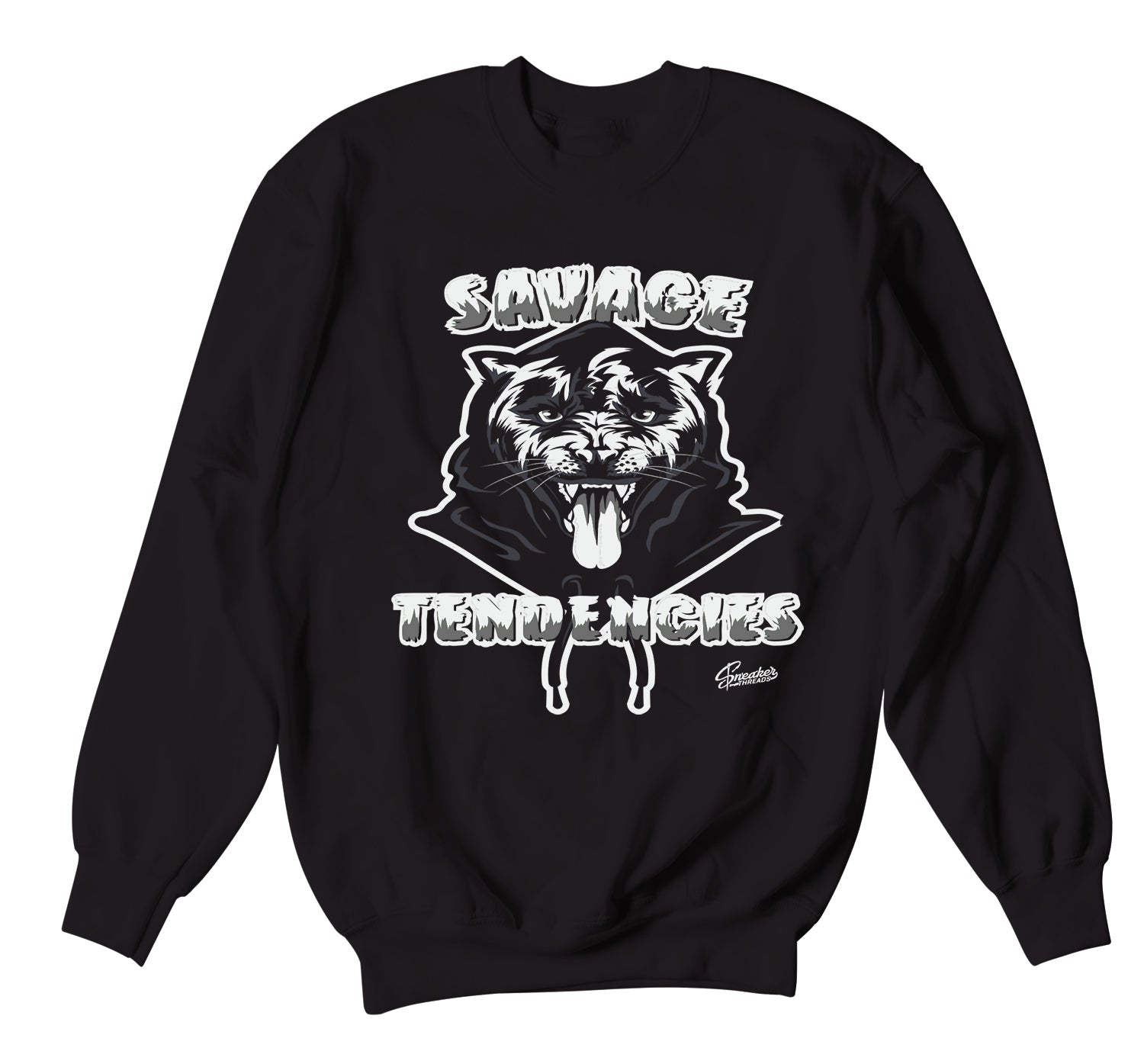 Jordan 4 Black Cat Savage Tendencies Sweater
