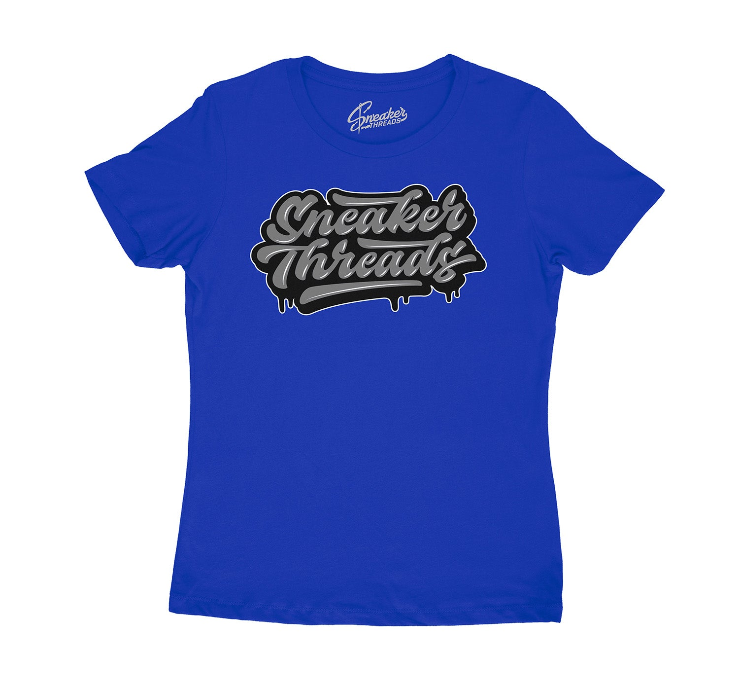 Females Jordan 10 royal blue sneaker has ladies tees to match