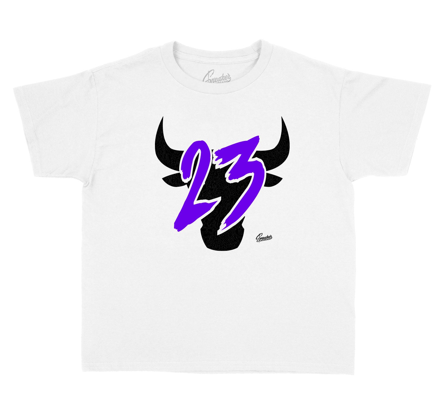 Kids tee collection matches with the sneaker Jordan 4 purple metallic sneaker collection