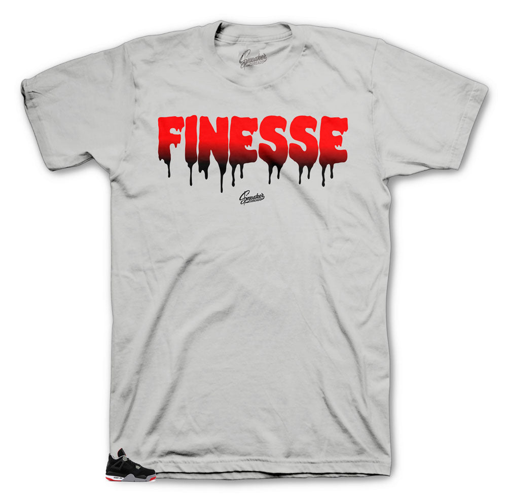 Jordan 4 Bred Finesse freshest shirts to match