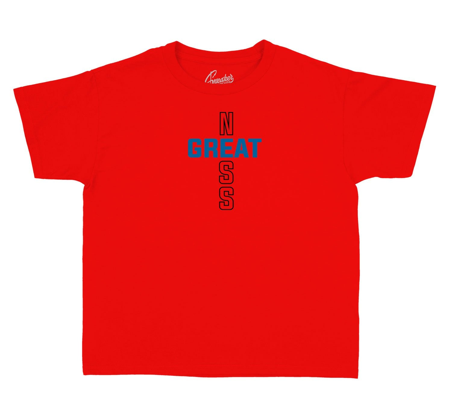 collection of shirts made for kids designed to match the Jordan 4 what the 4 sneaker