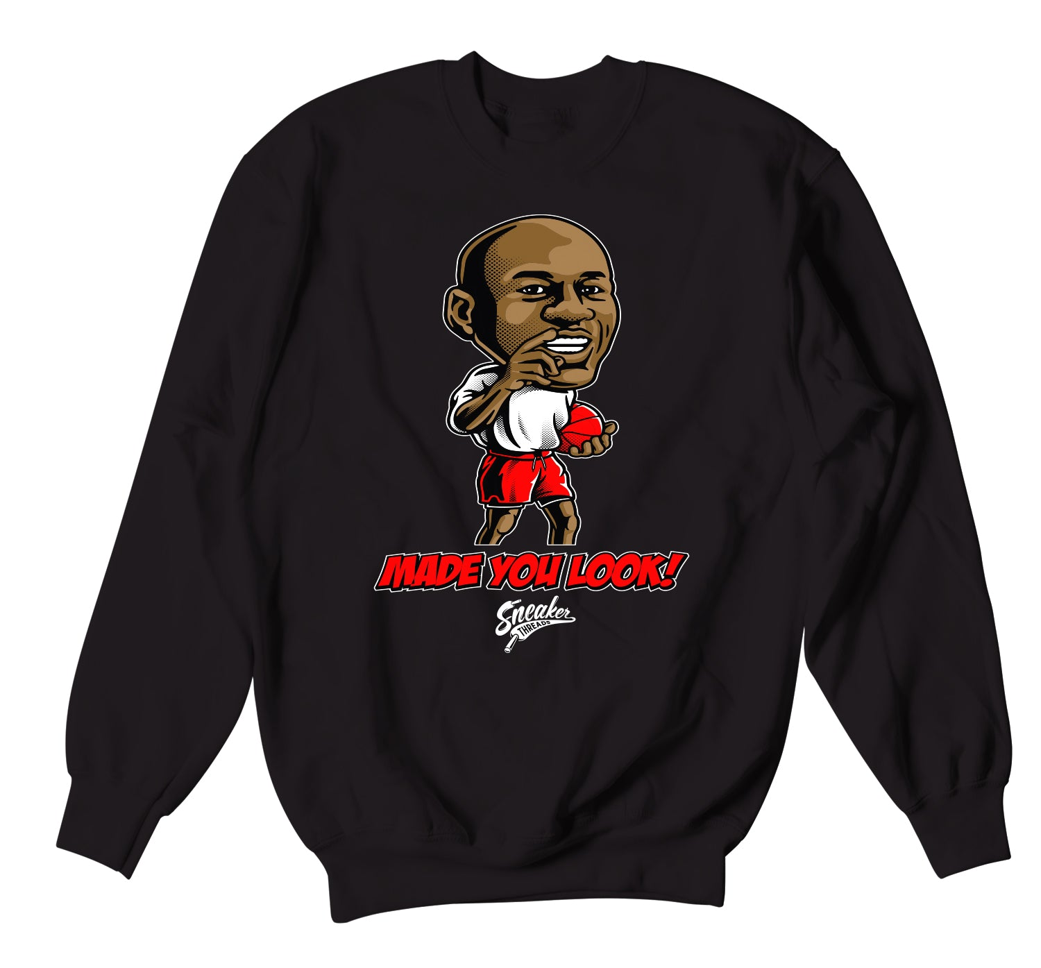 sweater designed to match the Jordan 4 fire red sneaker collection