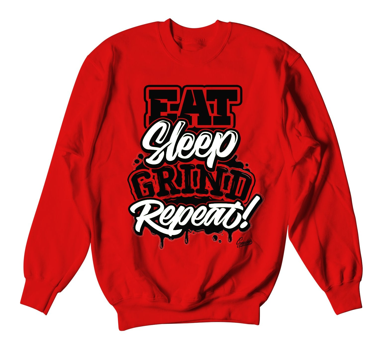 red crewnecks designed to match perfectly with the bred 11 sneakers