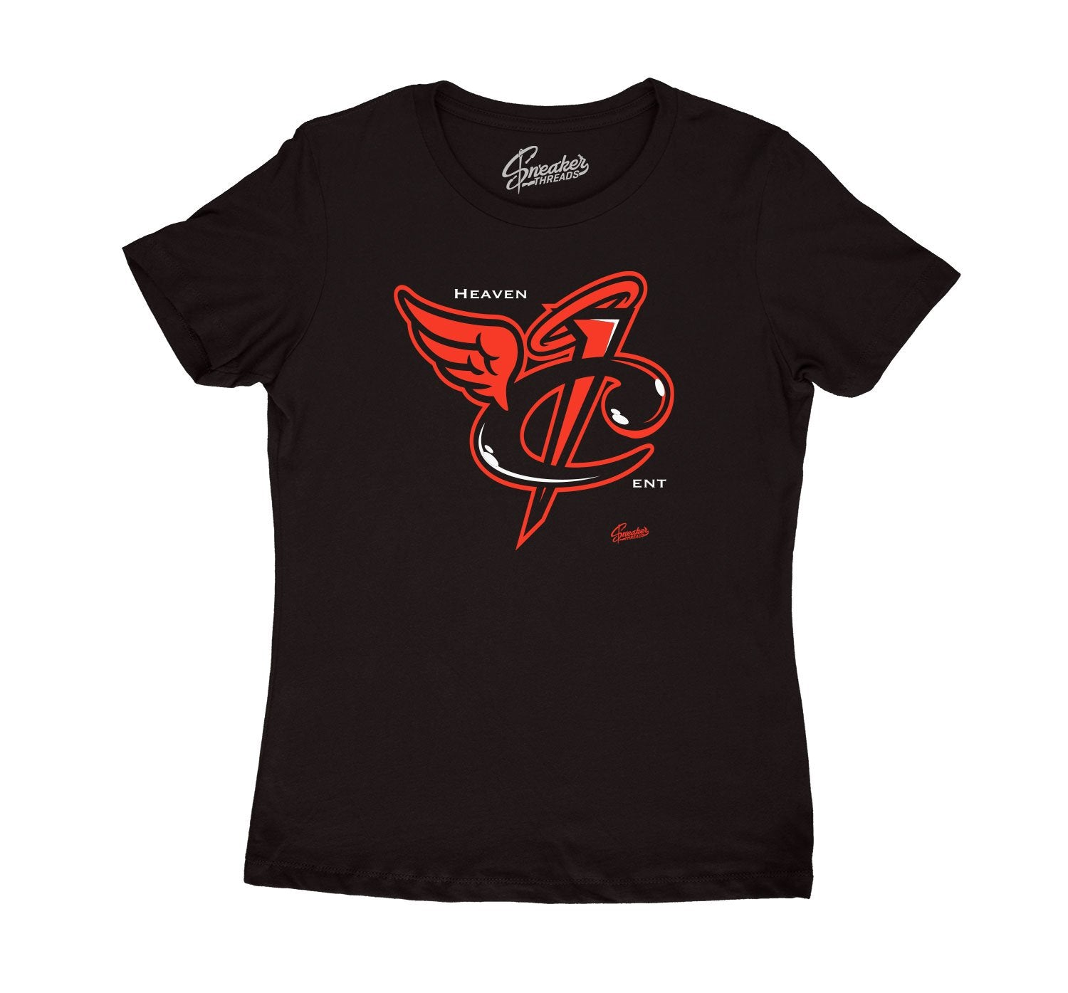 Womens sneaker tees match foamposote lava crimson.