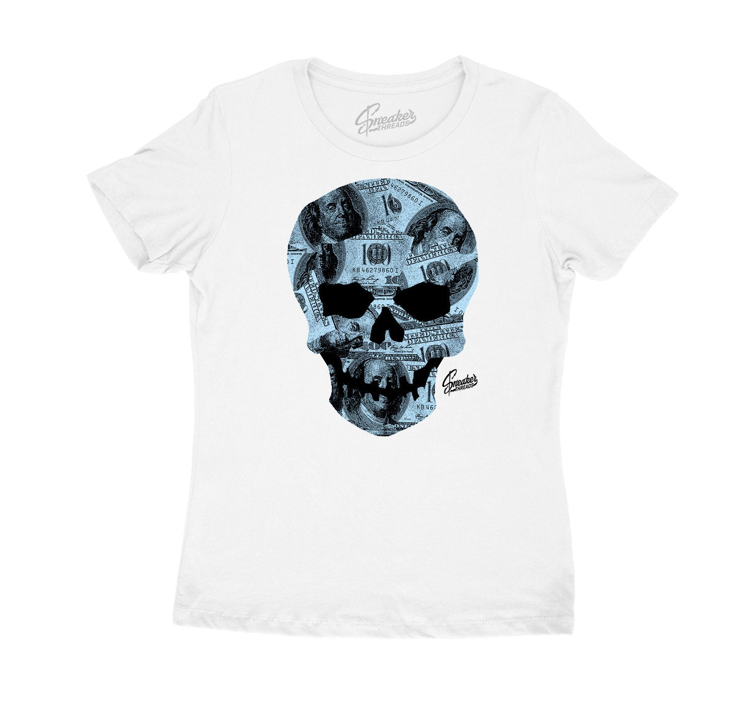 Womens tee matches Jordan 11 legend blue sneaker collection