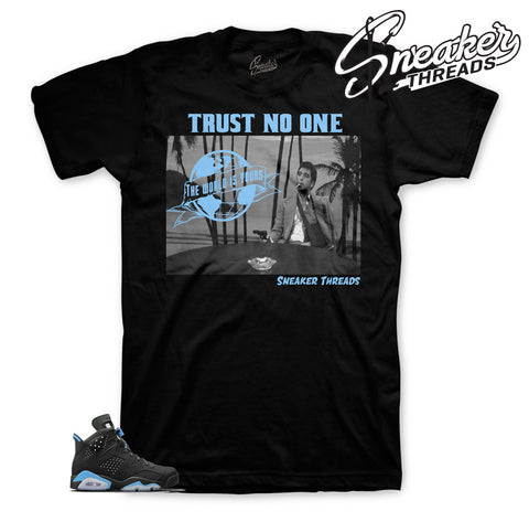 Official tees match Jordan 6 UNC carlona blue shoes.