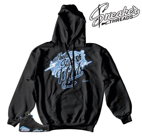 Hoodies match Jordan 6 UNC retro 6 hooded sweatshirts.