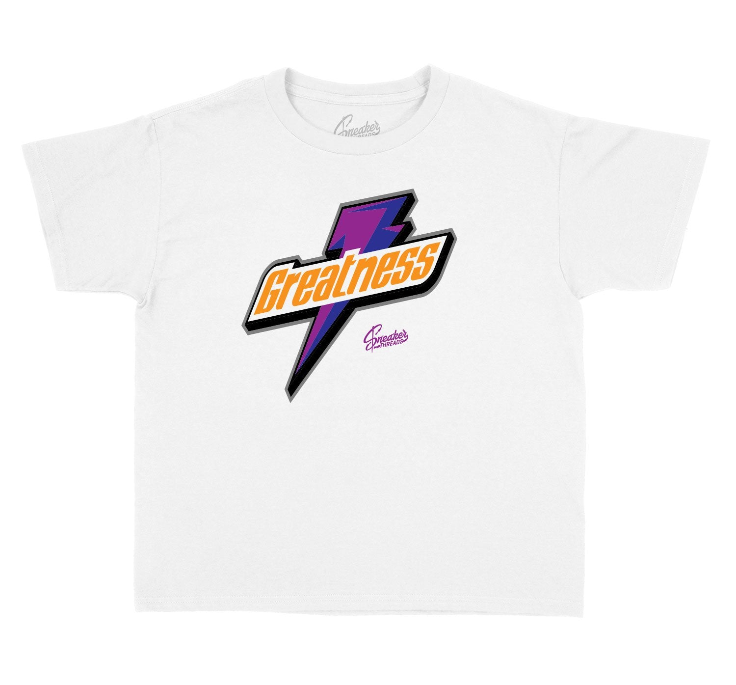 Collection of shirts designed for kids matching Jordan 4 rush violet shoes