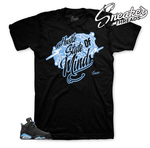 Official tees match Jordan 6 UNC university blue shoes.