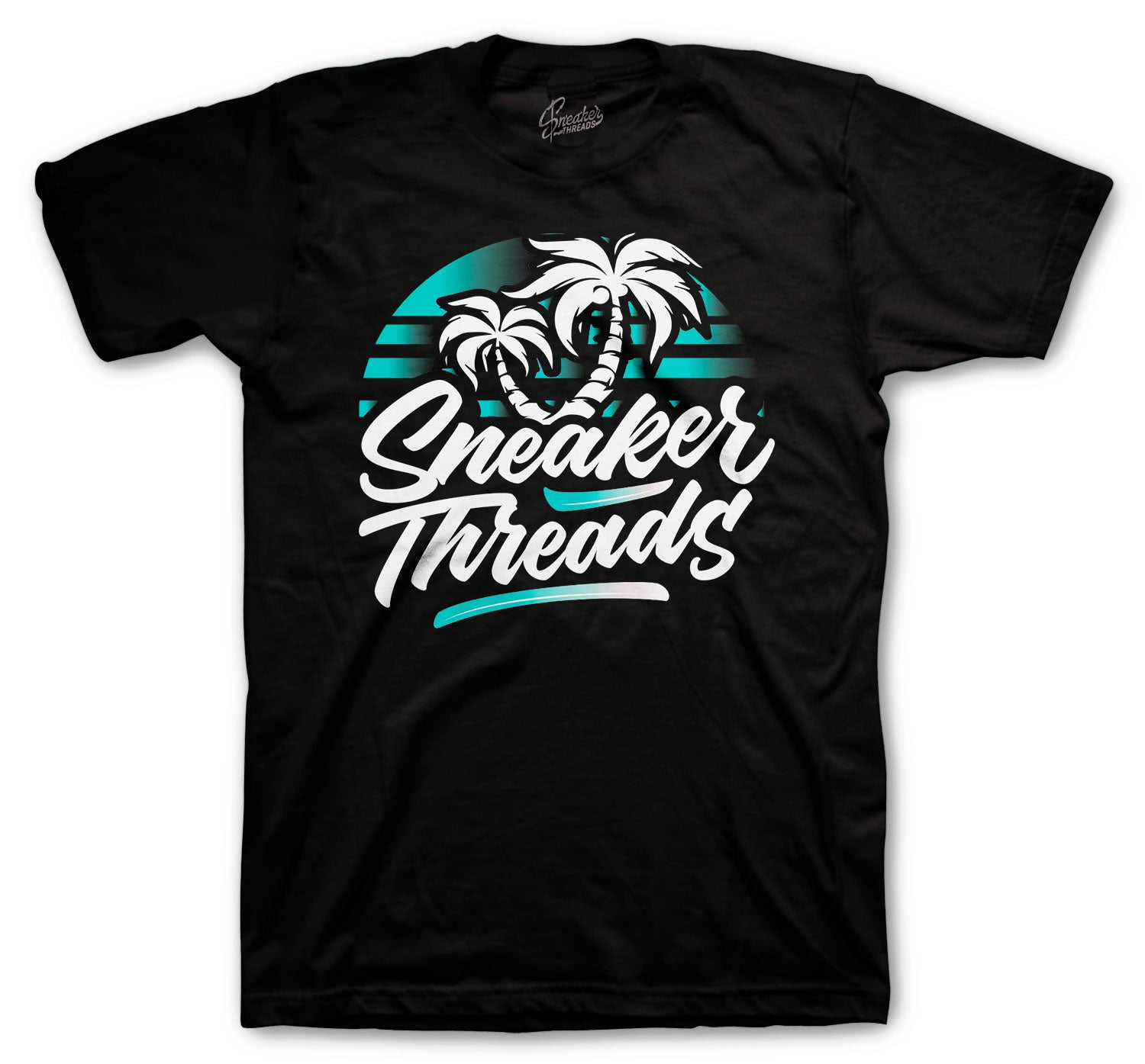 Island green Jordan 5 sneaker tees and matching shirts for 5s