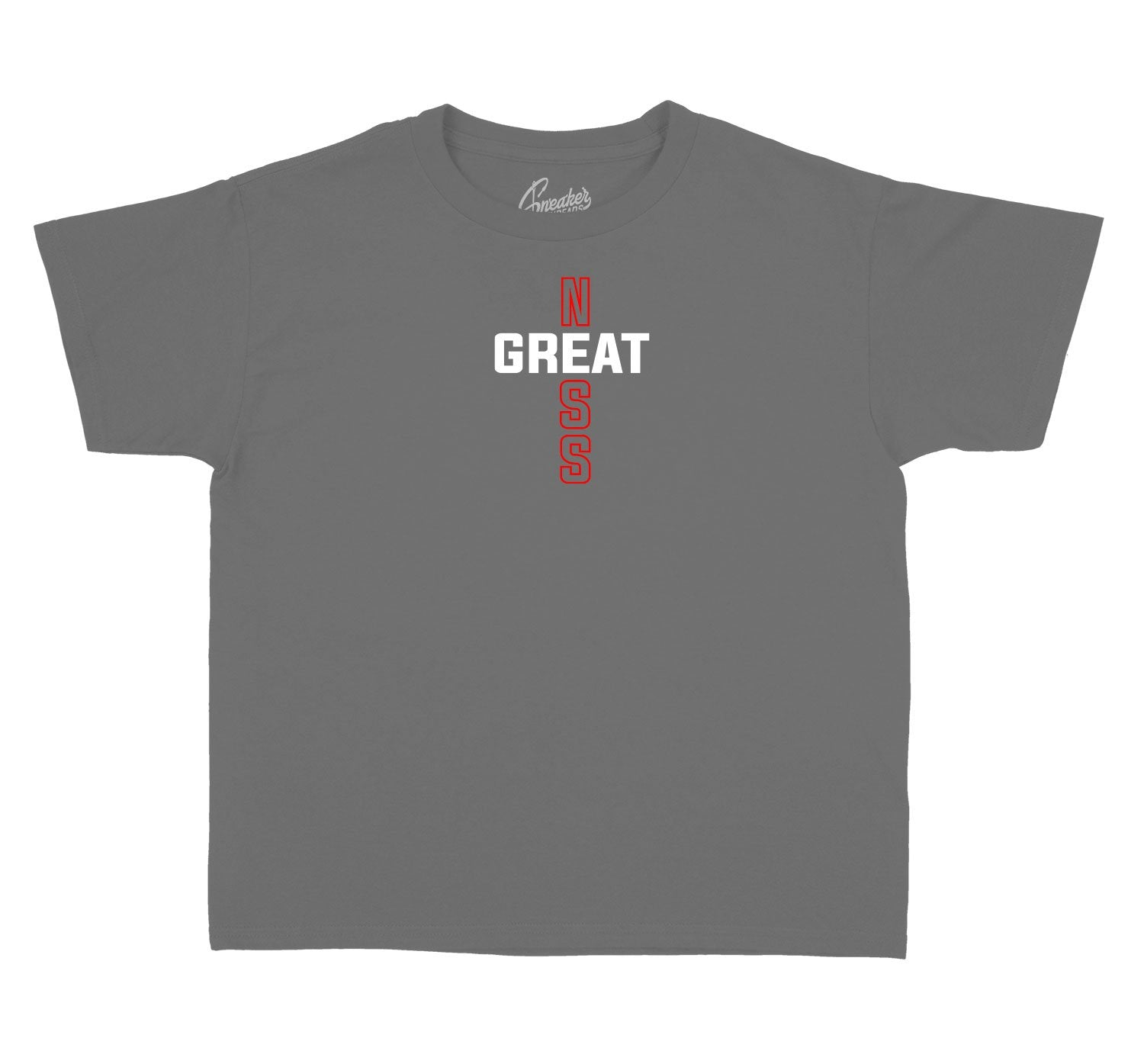 dark grey 12s matching kids tees