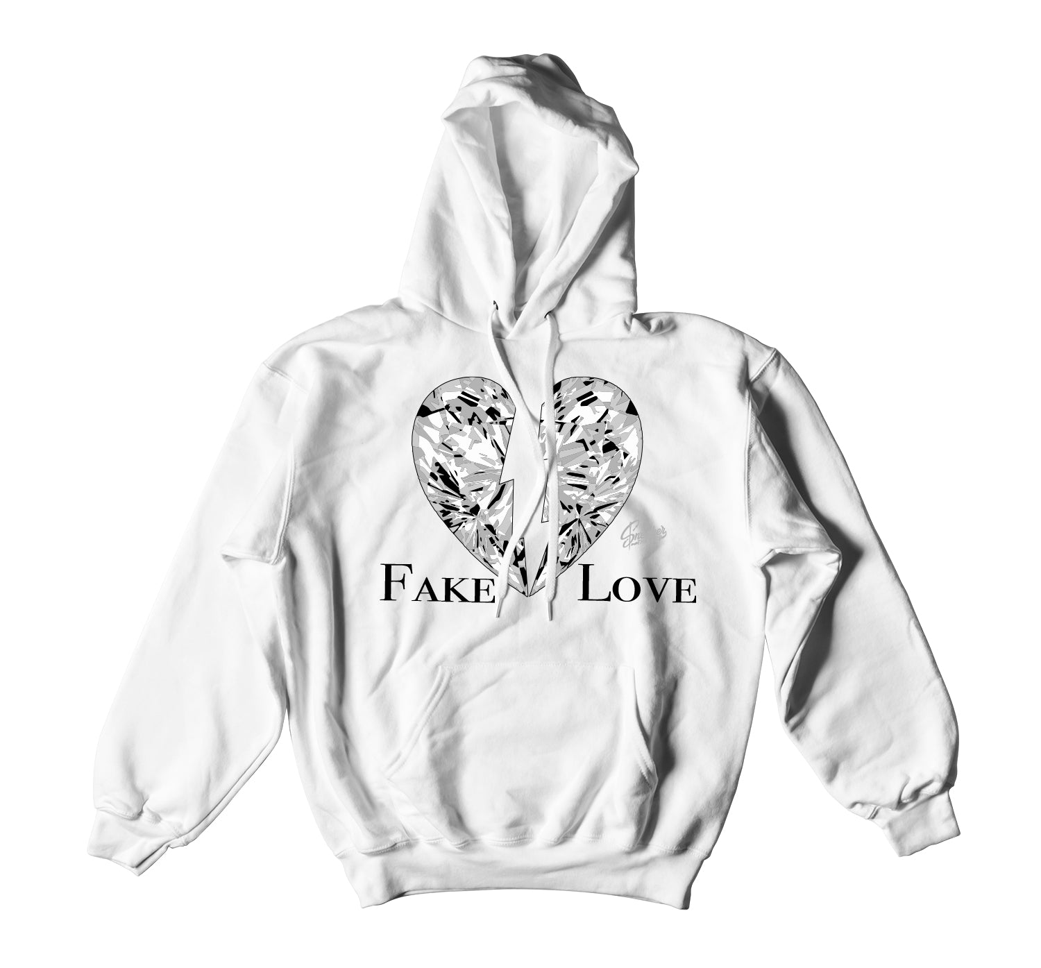 Jordan 1 Neutral Grey Fake Love Hoody