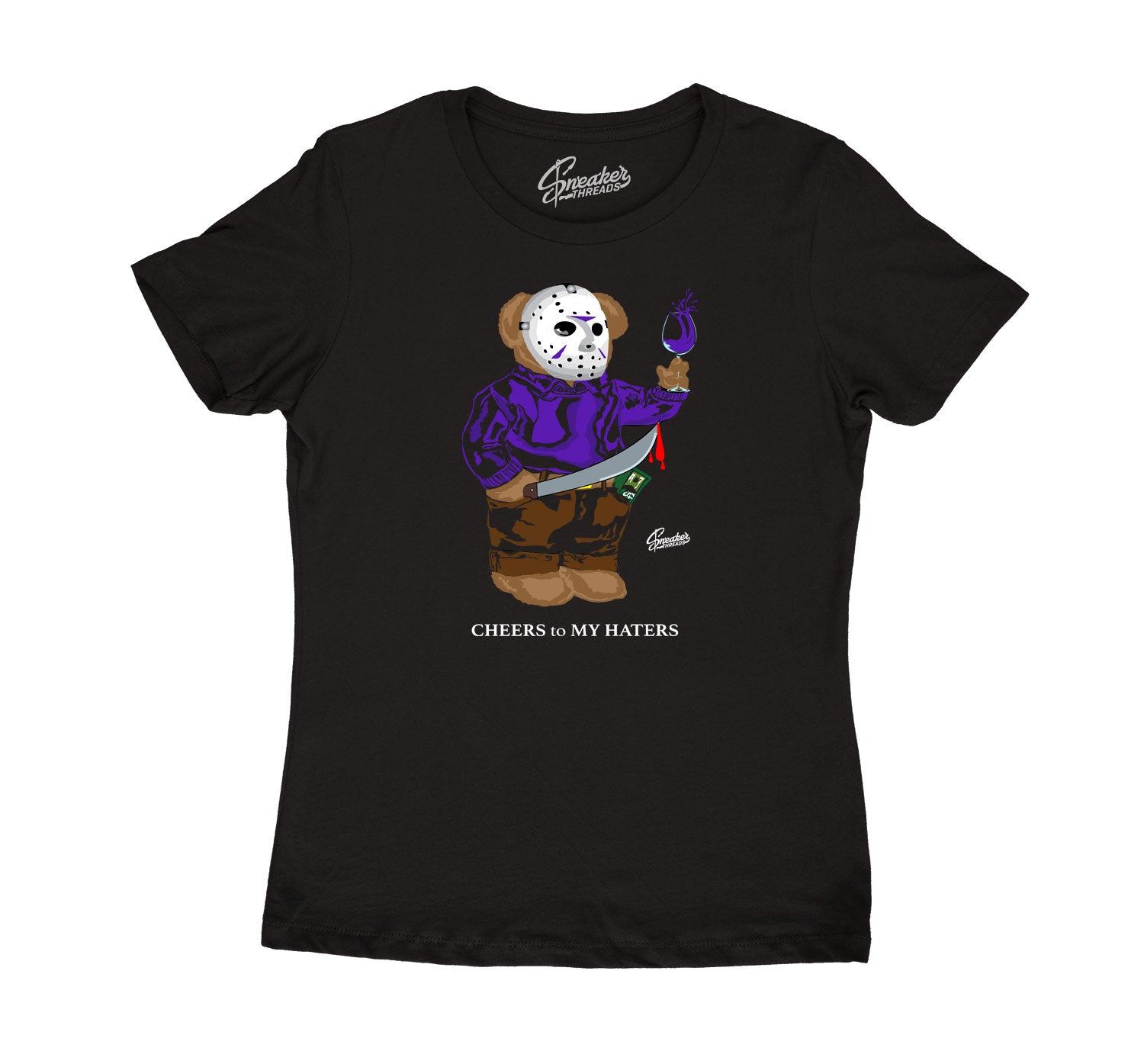 Womens - Dark Concord 12 Jason Bear Shirt