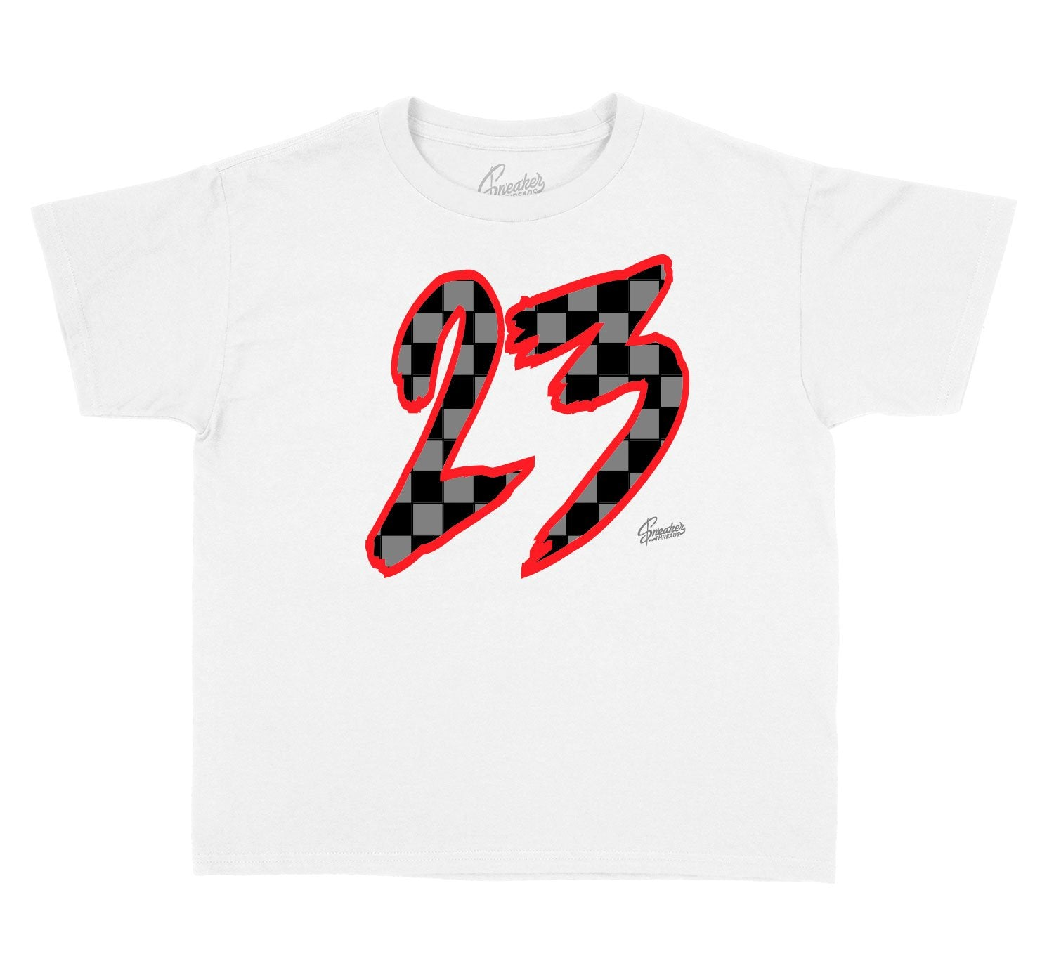 Collection of shirts for kids designed to match the Jordan 12 dark grey sneakers