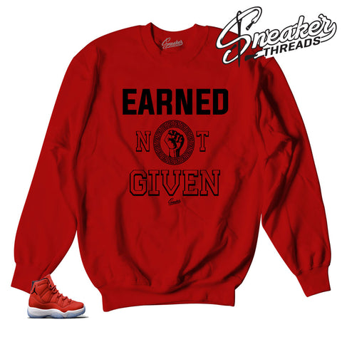 Jordan 11 win like 96 sweaters | Earned not given sweater.