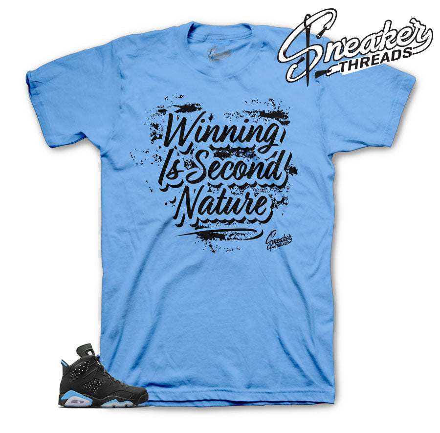 University blue Jordan 6 shirts match retro 6 sneakers | Official tees