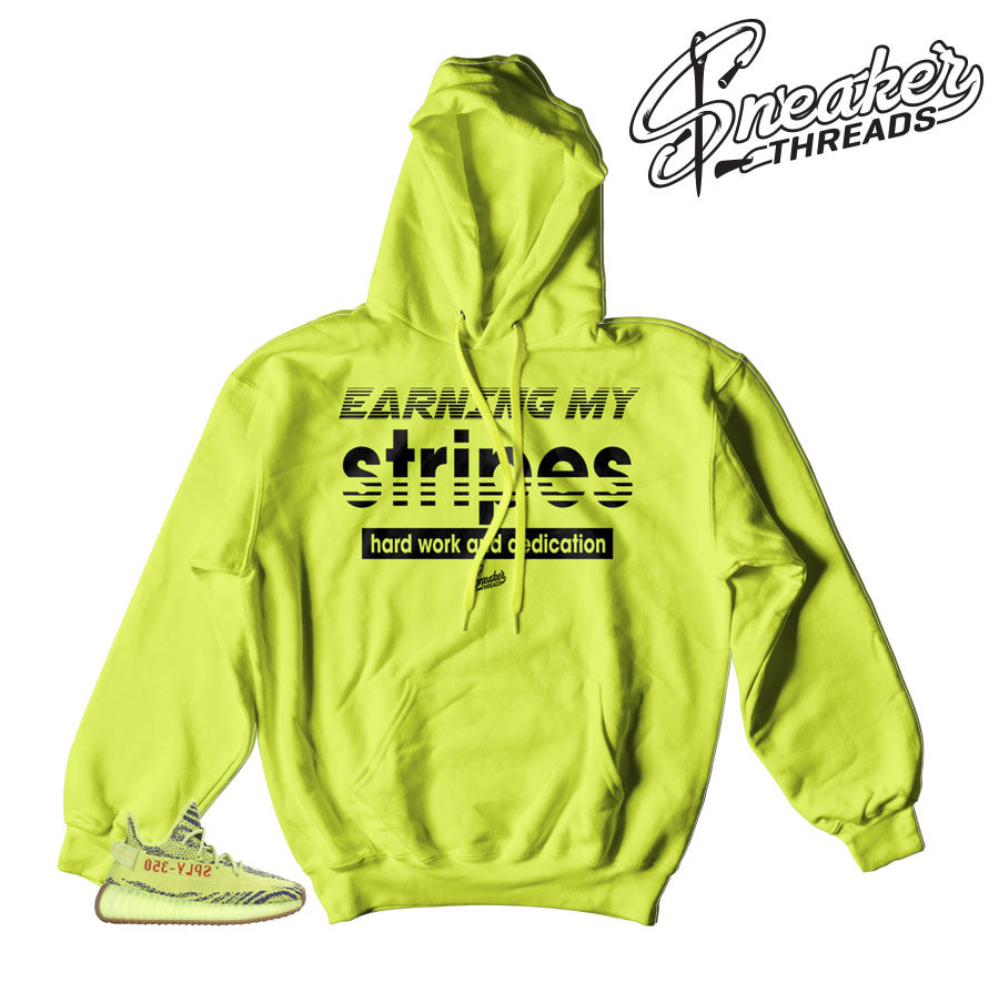 10ea49d626e Home Yeezy Boost Frozen Yellow Earning My Stripes Hoody. Share