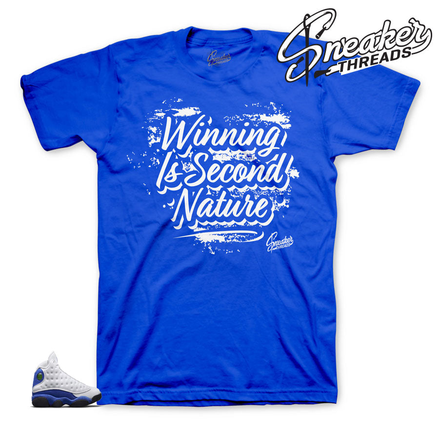Jordan 13 hyper royal | Retro 13 sneaker match tees shirts.