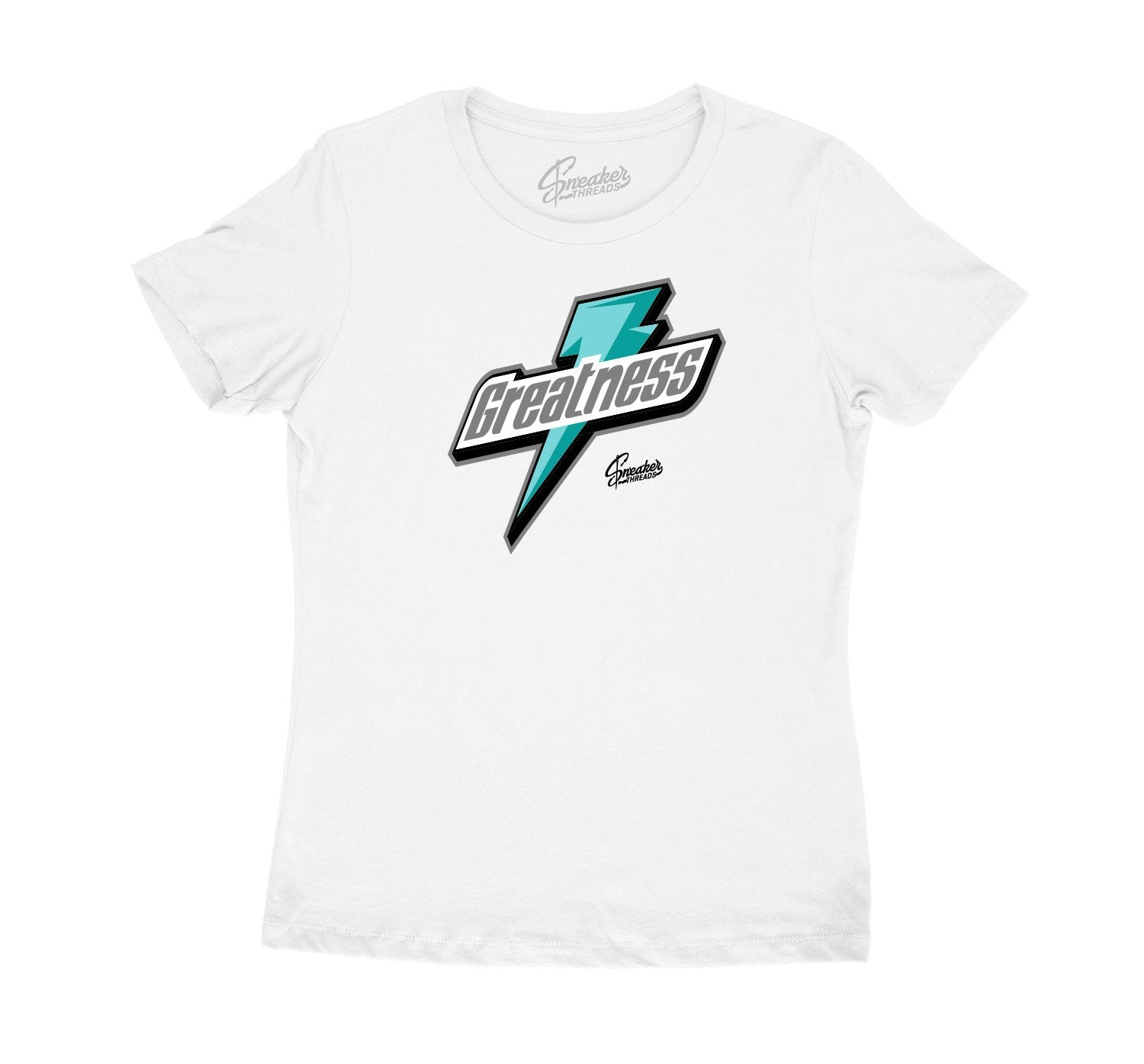 WOMENS tees created perfect to match the Jordan 13 island green sneakers