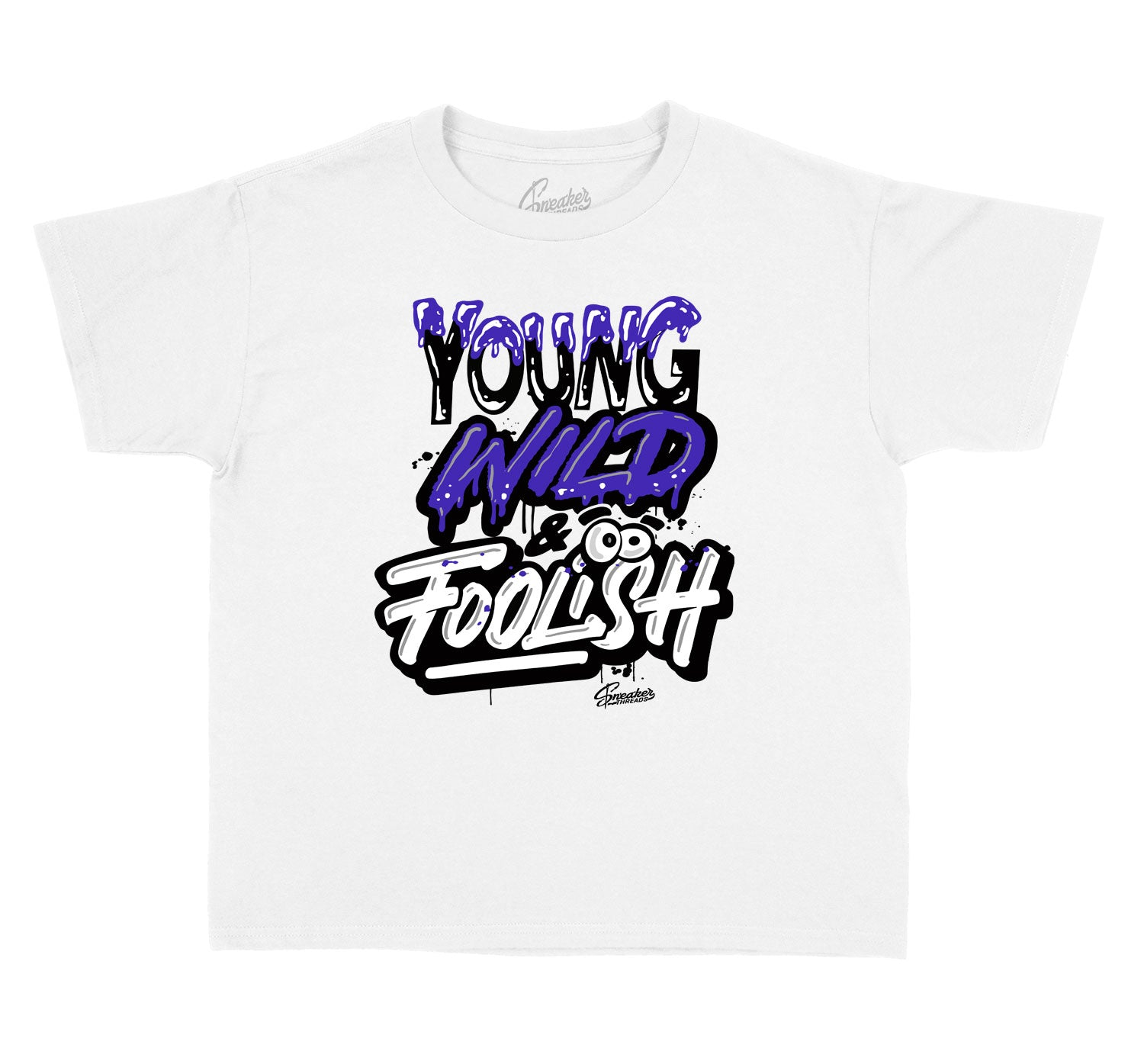 T shirt collection matches the sneaker Jordan 4 purple metallic sneaker collection