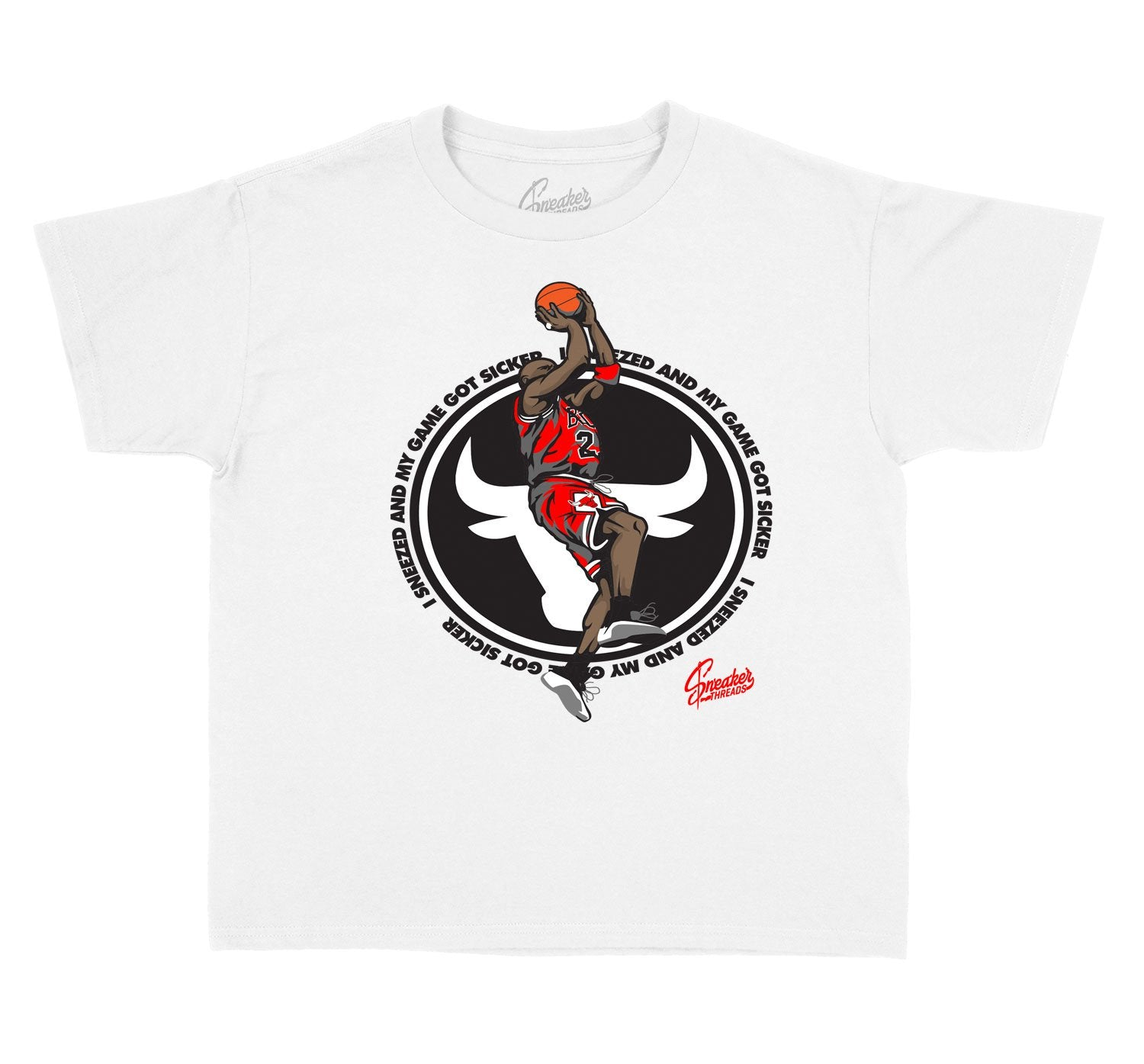Kids jordan 12 dark grey sneaker tees match retro 12s shoes.