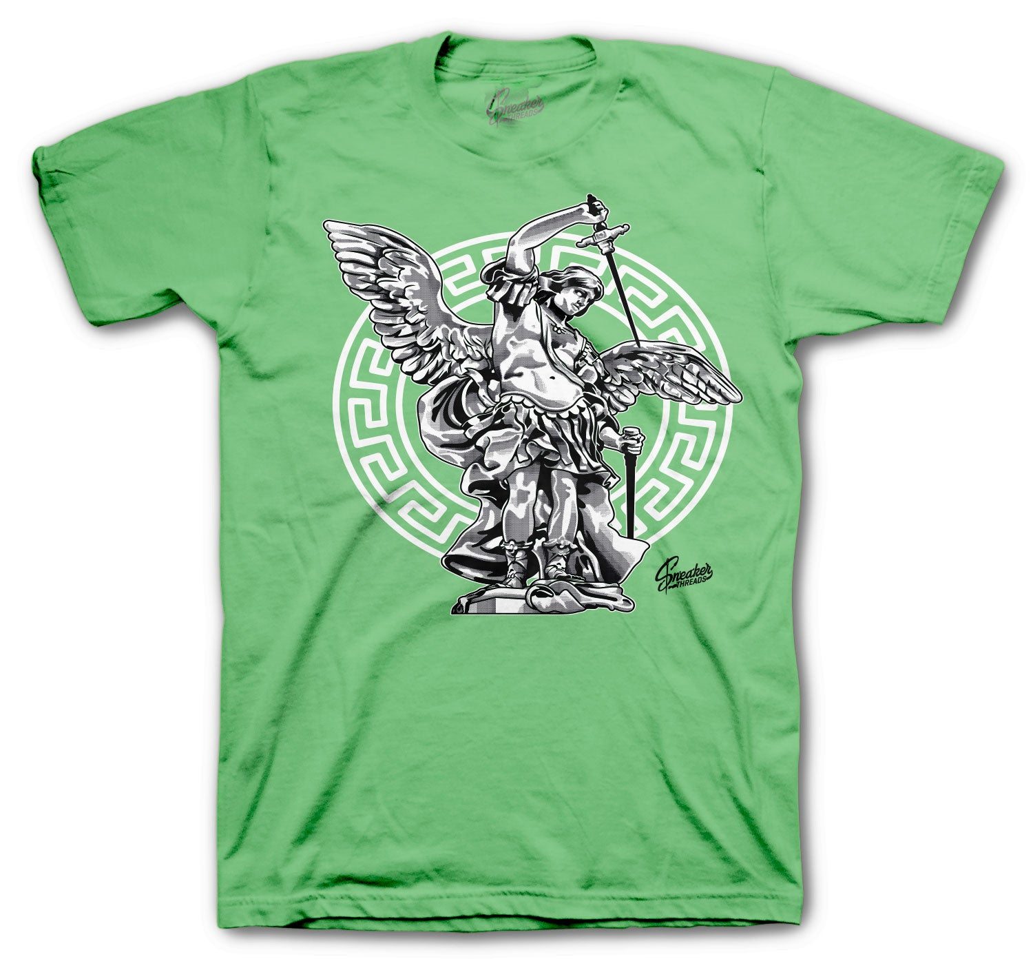 Jordan 1 Zen Green Saint Michael Shirt