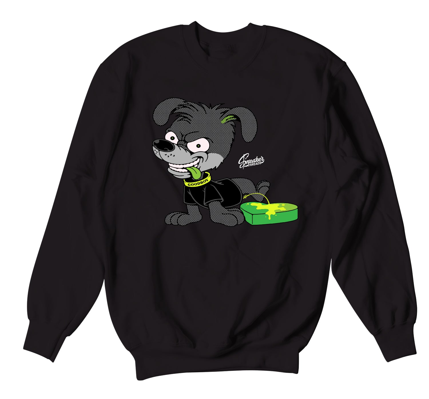 Crewneck sweaters designed to match the nike 6 grinch sneaker collection