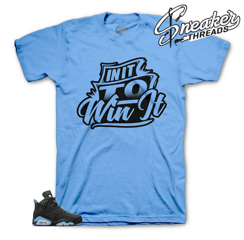 UNC Jordan 6 shirts match retro 6 sneakers.