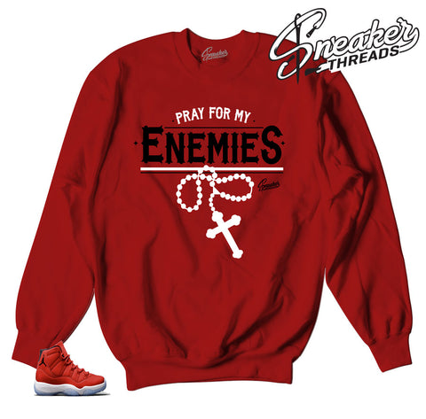 Jordan 11 win like 96 sweaters | Pray for enemies sweater.