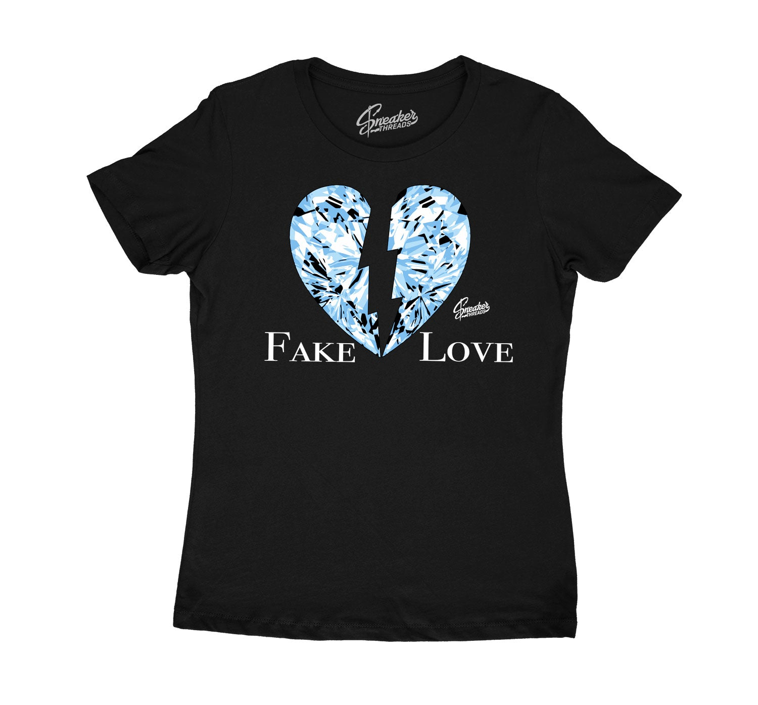 Womens - University Blue 1 Fake Love Shirt