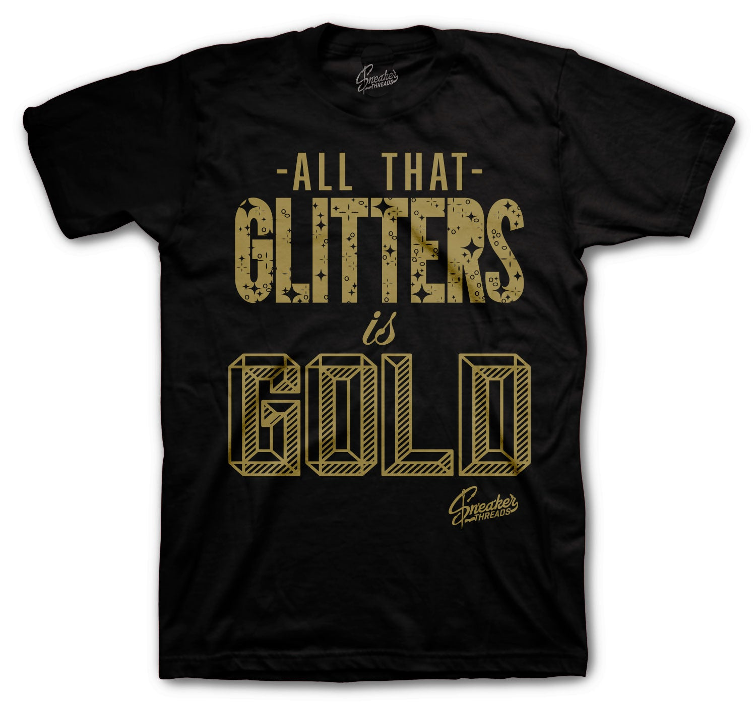 JOrdan 1 Black Gold Sneaker collection matching tees