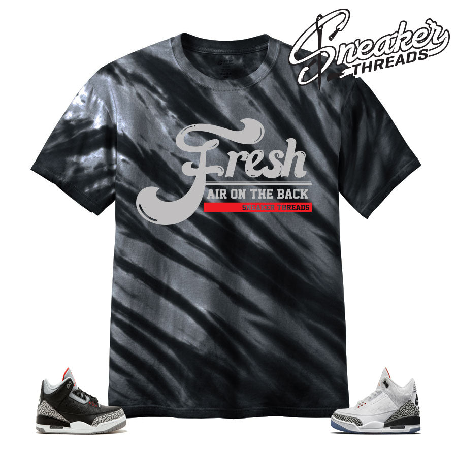 2adfe996ae0c Home Jordan 3 Cement Fresh Air Tye Dye Shirt. Share