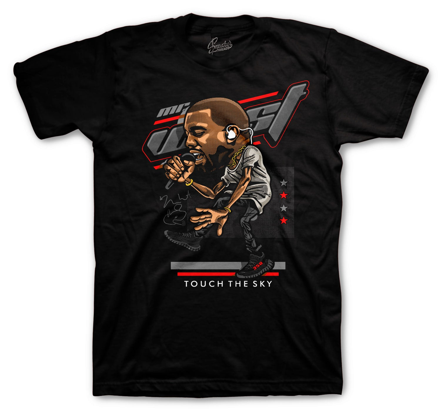 Yeezy 350 Bred Touch The Sky Shirt