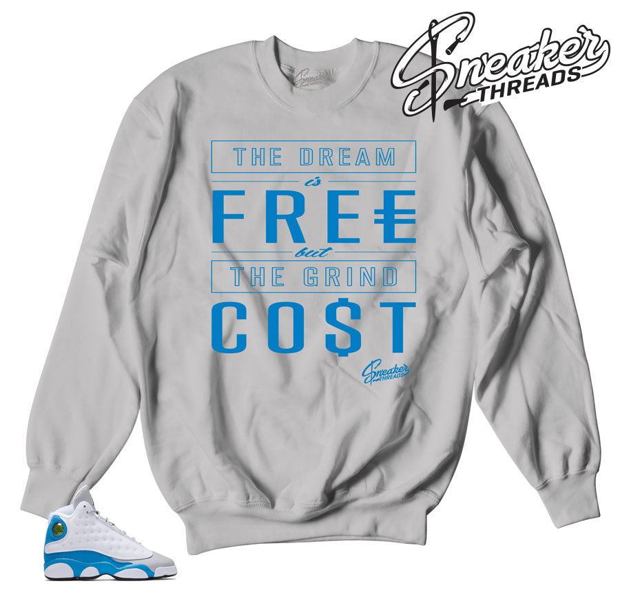 Sweaters match Jordan 13 italy blue shoes.