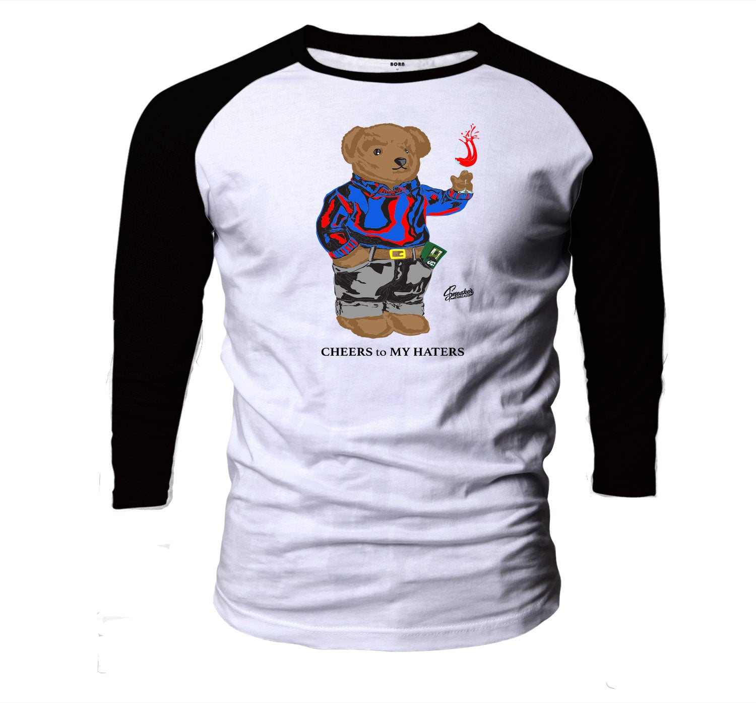 Jordan 4 What The Four Cheers Bear Raglan