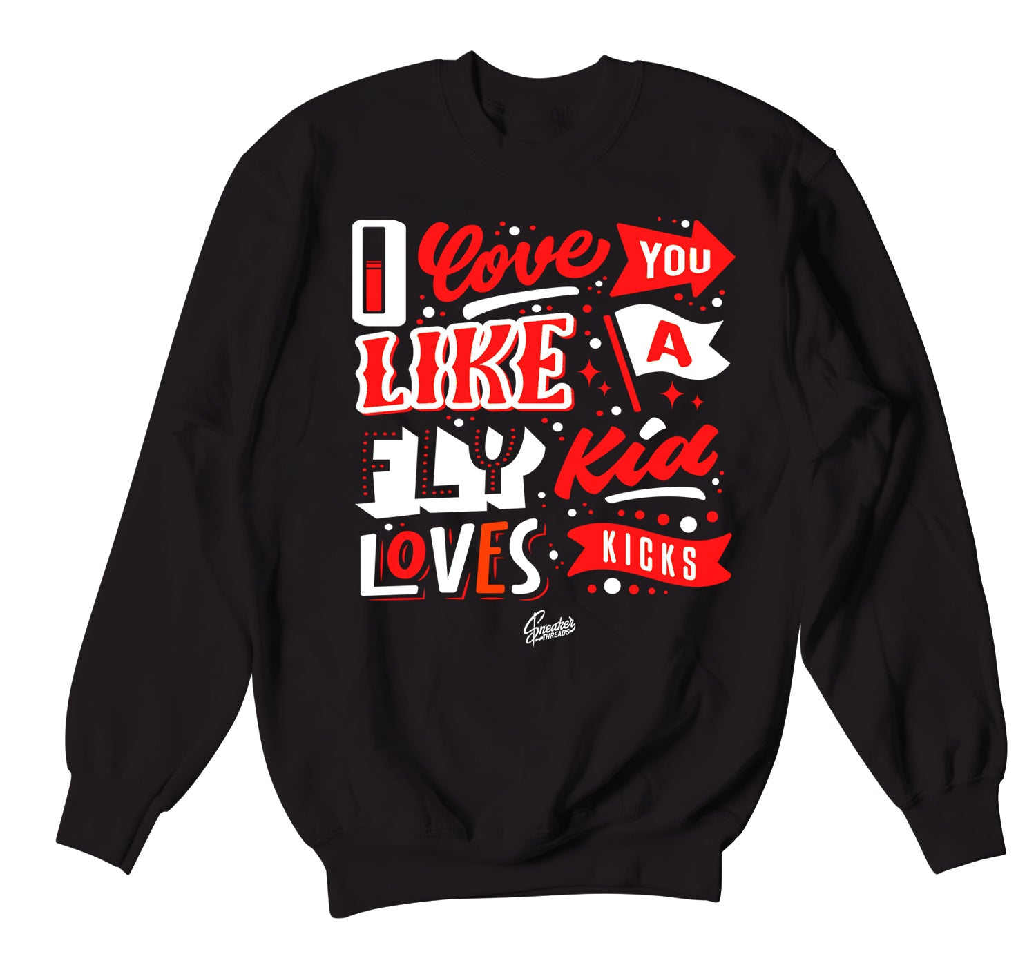 JOrdan 4 Fire Red sneaker matching crewnecks