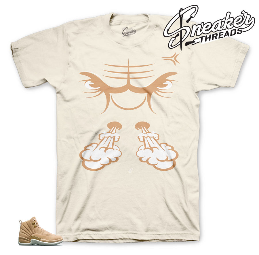 jordan 12 vachetta tan sneaker tees match retro 12 tan shoes.