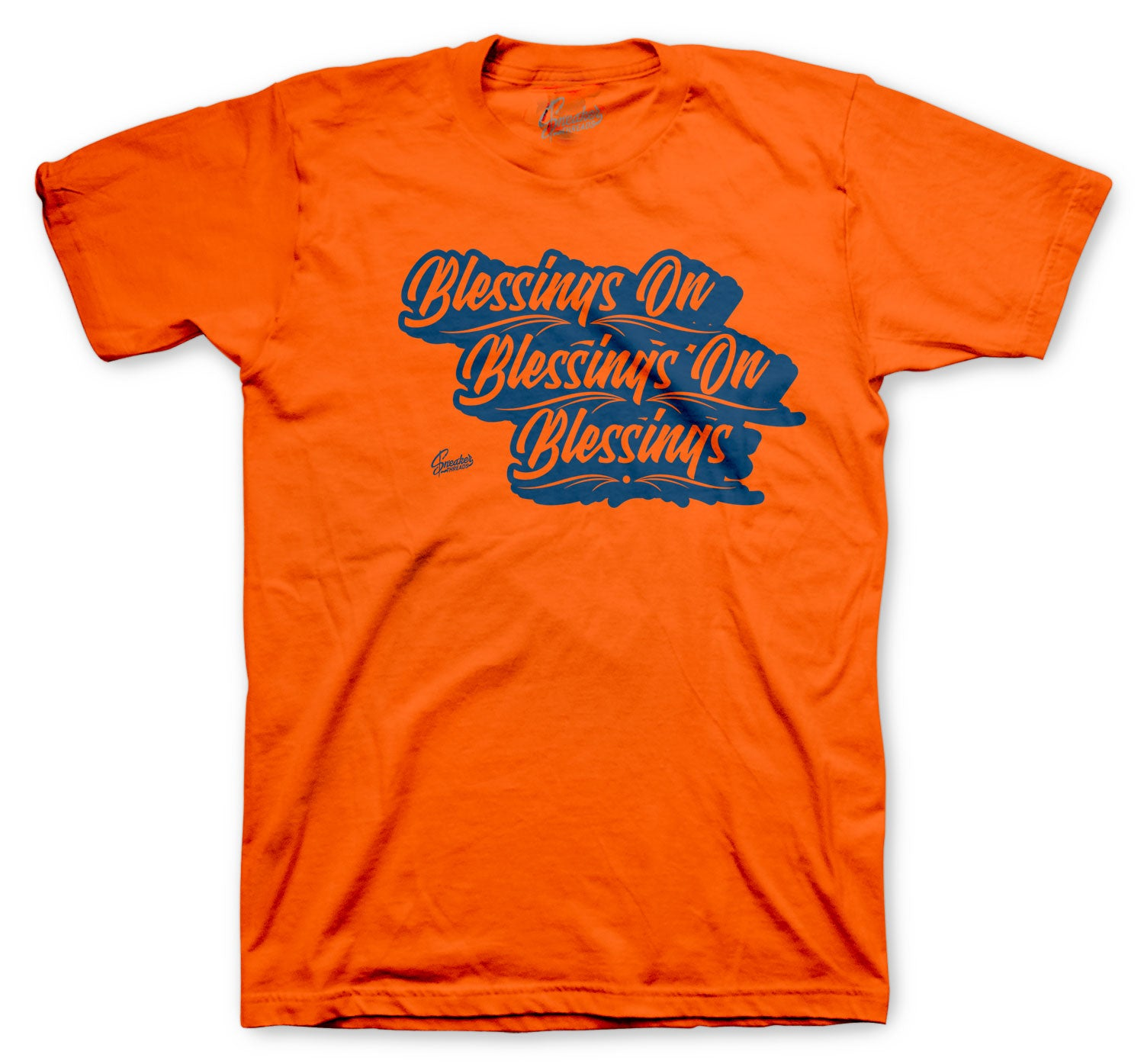 T shirt collection for men matching with the foamposite sneaker collection orange rugged