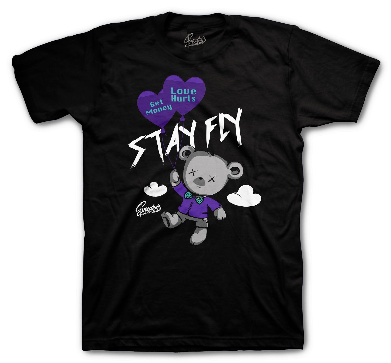 black t shirts for men designed to match the Jordan 5 purple grape sneaker collection