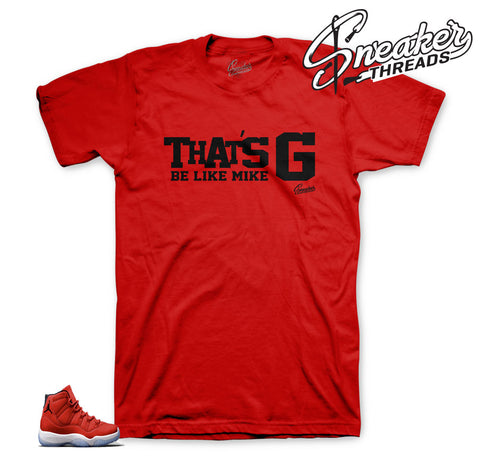 Shirt to match Jordan 11 win like 96 | That's G sneaker tees.