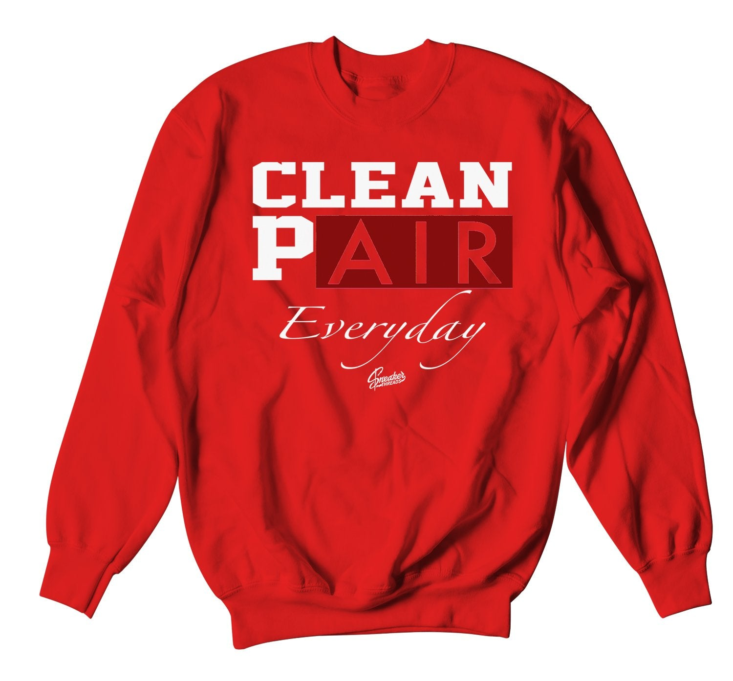 sweatshirt crewneck made to match the red carpet 17s