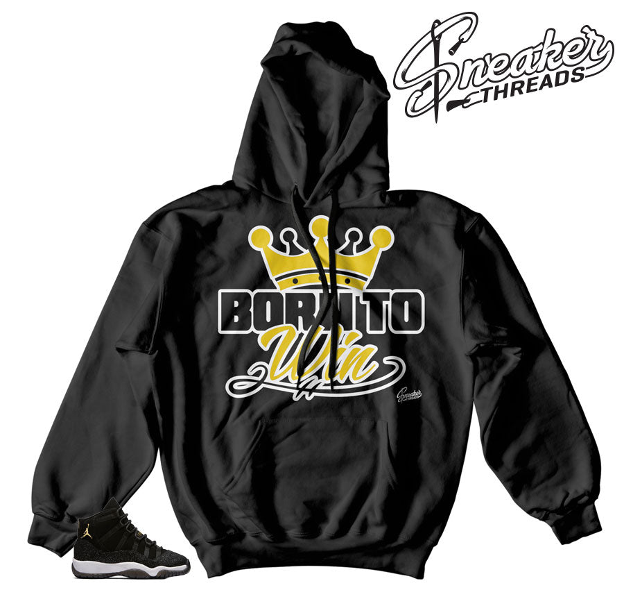 Jordan 11 stingray hoodies match | Born to win hoody
