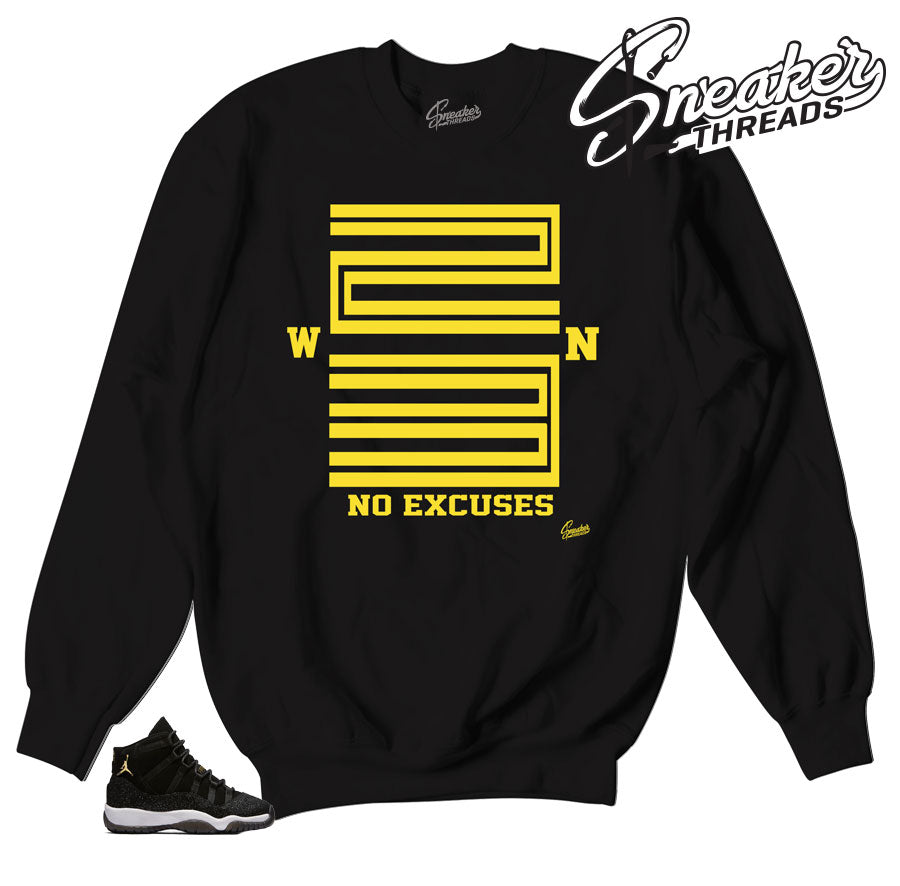 Jordan 11 stingray sweatshirts match | Official retro 11 heiress crews.