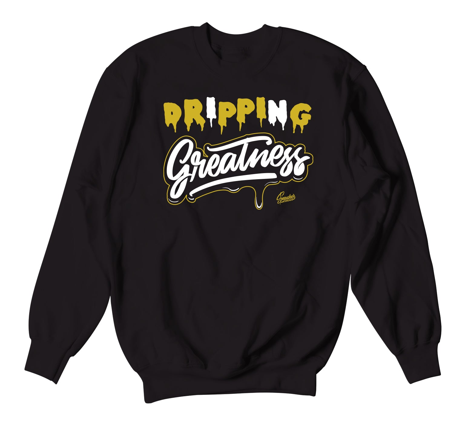 crew neck designed to match perfectly with Jordan 1 black gold sneaker collection