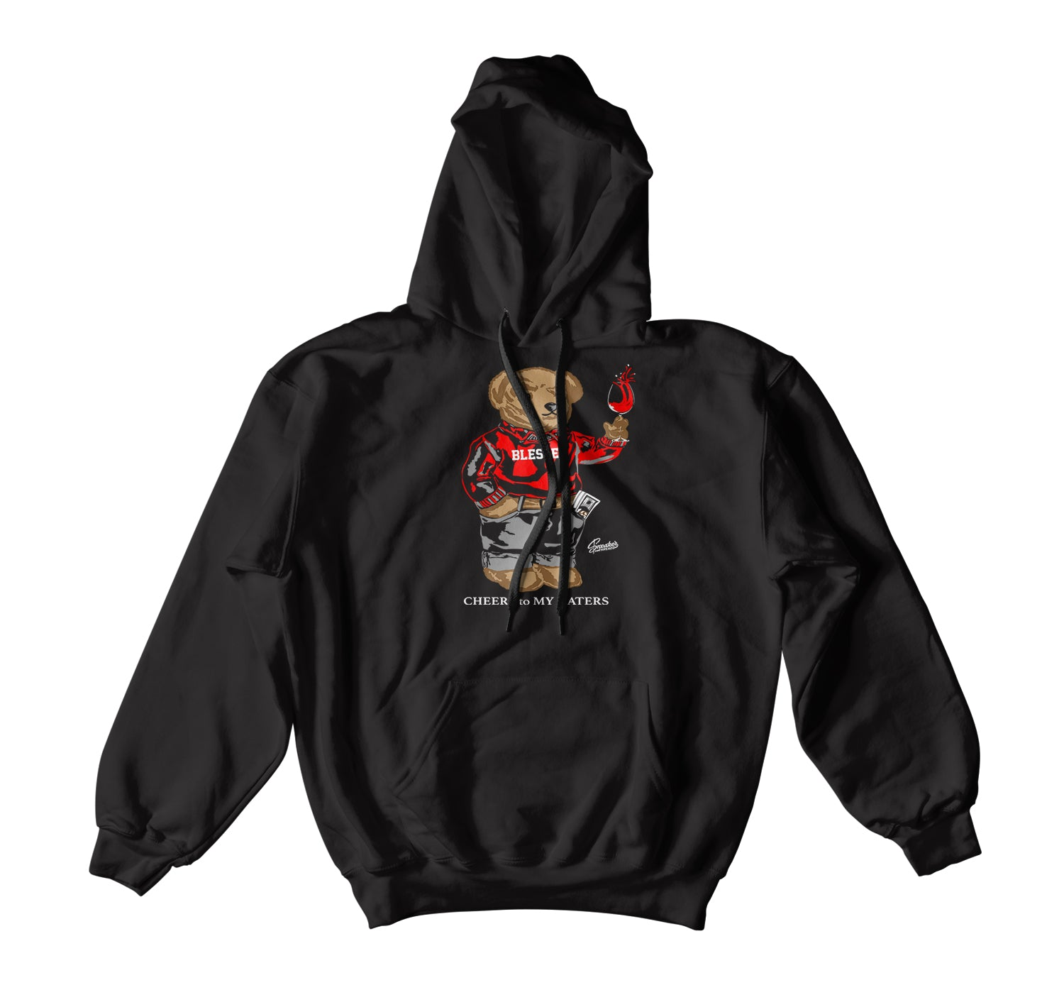 Jordan 14 Quilted  Cheers Bear Hoody