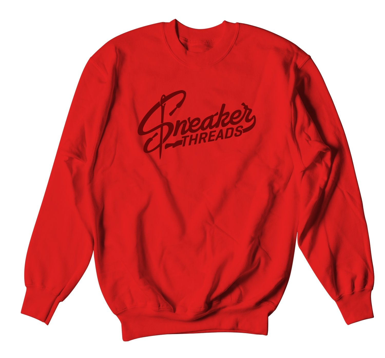 crewneck made to match the lebron red carpet 17s