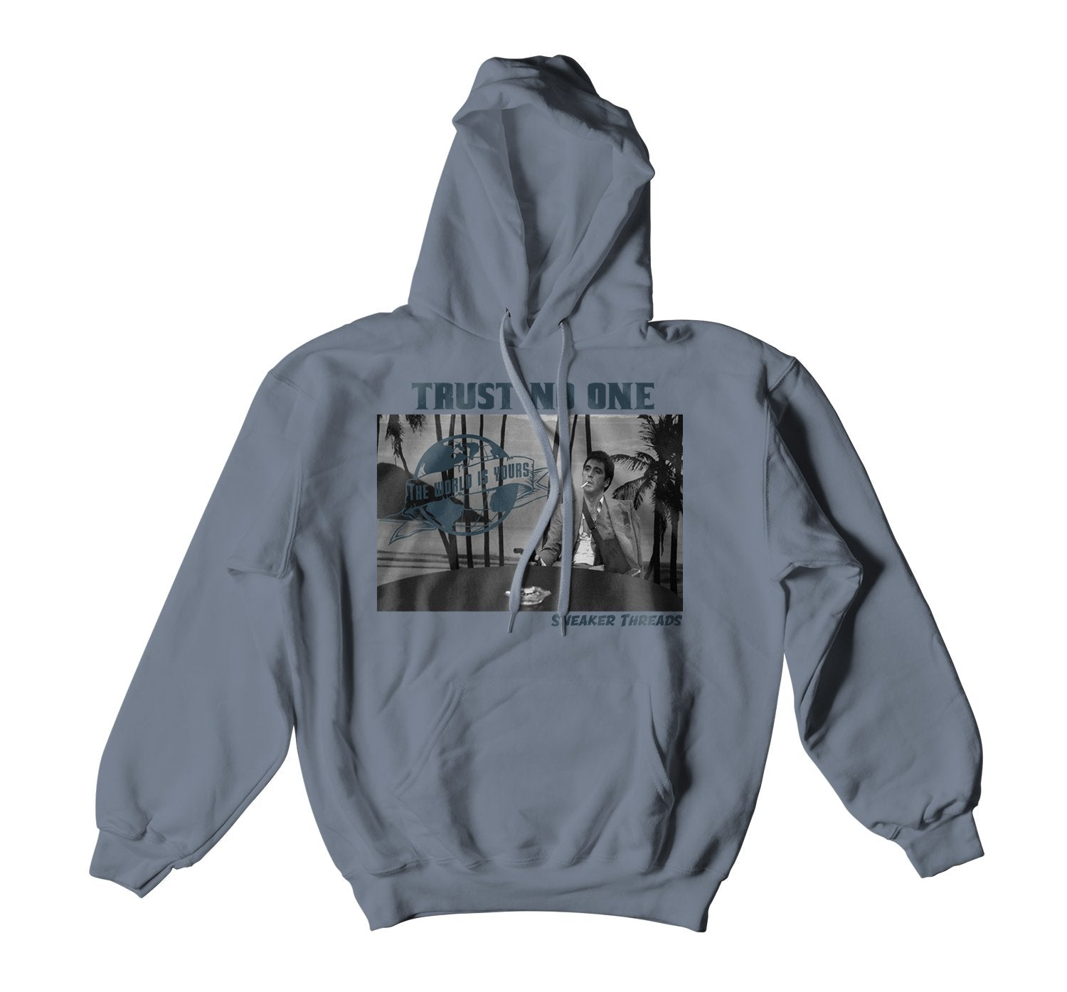 Scarface Hoody to match perfect with fit for Yeezy 700 Teal Blue