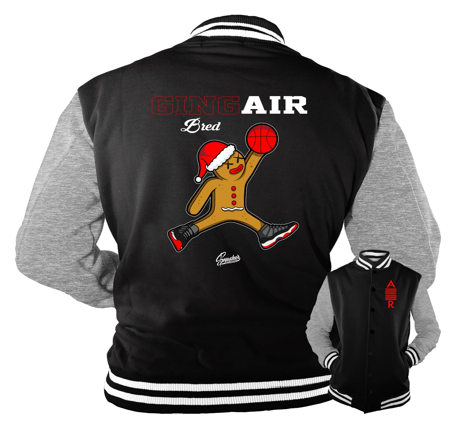 Jordan 11 bred sneaker matching cotton jackets