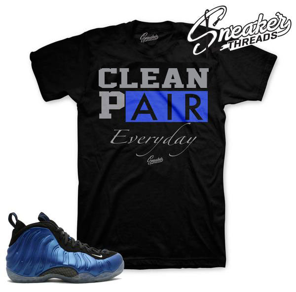 Foamposite royal shirts match royal one sneaker match tees.
