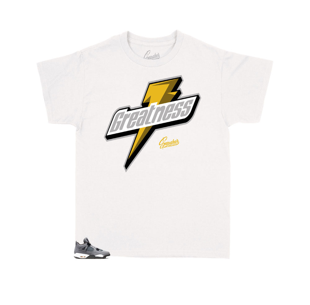Cool Grey Jordan 4s matching kids t shirts